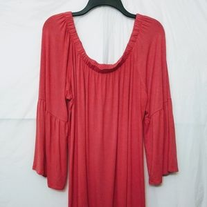 Antthony Designs Bell Sleeve Tunic Blouse